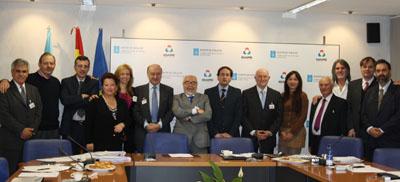 Los presidentes de las instituciones y los directivos del Igape que participan en la reunión.