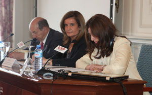 Ftima Bez, durante la inauguracin del Seminario sobre envejecimiento activo. 