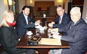 Rodríguez Miranda, con los representantes de las tres instituciones.