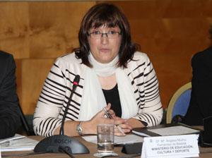 Ángeles Muñoz, durante su intervención en el Pleno.