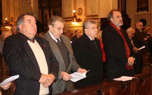 Las autoridades de diferentes instituciones participaron en la misa.