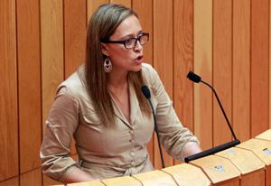 Elena Muñoz, en el Pleno.