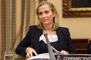 Marina del Corral presentó el proyecto de presupuestos en la Comisión de Empleo del Congreso.