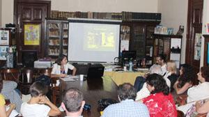Rey Castelao contestó a las preguntas de los asistentes.