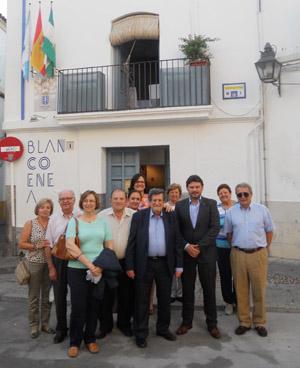 Un momento de la visita que Rodríguez Miranda hizo a la Casa de Galicia en Córdoba.