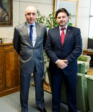 Gómez Olea y Rodríguez Miranda, durante la reunión.