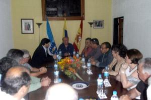 Rodríguez Miranda y Fajín Recarey presidieron la reunión en la Hermandad Gallega de Valencia.