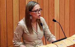 Elena Muñoz, durante un pleno.
