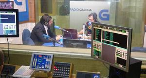 Antonio Rodríguez Miranda, durante la entrevista en el programa 'Galicia por diante' de la Radio Galega.