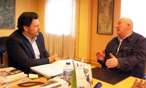 Rodríguez Miranda y Fernando Harguindey, durante la reunión.