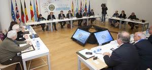 Feijóo y Miranda presidieron la última reunión, en Santiago, de la Comisión Delegada del Consello de Comunidades Galegas, ante quien se presentará en junio el Plan Integral de Emigración 2014-2016.