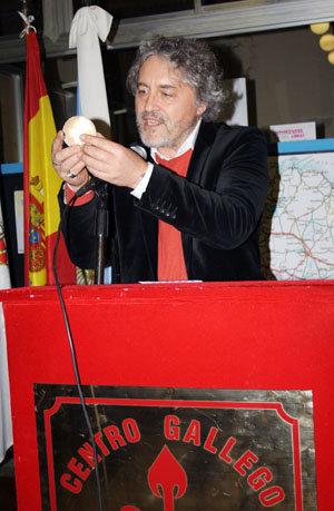 Manuel Rivas, durante su intervención en el Centro Gallego de Buenos Aires.
