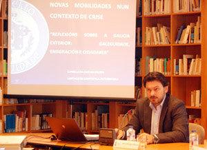 Rodríguez Miranda, durante su participación en el seminario sobre nuevas movilidades.