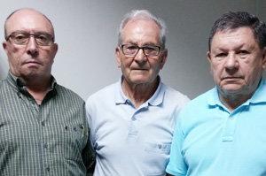 De izda. a dcha.: Ramón Fidalgo, Dionisio González y Carlos Rodríguez.