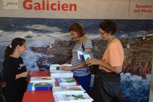 Estand de Turismo de Galicia en Frankfurt.