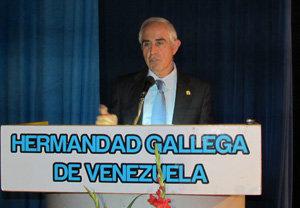 Miras Portugal, durante su visita a la Hermandad Gallega de Venezuela en octubre del año pasado.