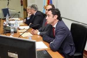 Javier Aguilera, en un momento de su intervención.