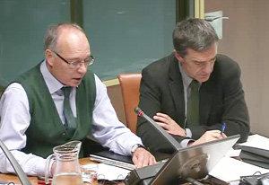 El secretario general de la Presidencia, Jesús Peña, durante la presentación de los presupuestos de este departamento.