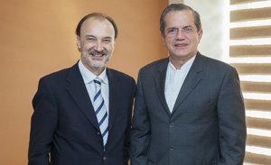 Jesús Gracia y Ricardo Patiño, durante el encuentro.