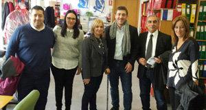 Roberto Jiménez, con los representantes de los retornados en Andalucía.