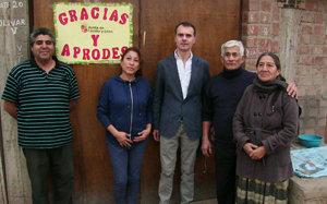 Herrero, durante la visita a uno de los proyectos de cooperación en Perú.