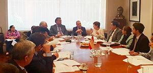 Torres, durante la celebración de la reunión del Patronato de la Fundación España Salud (FES).