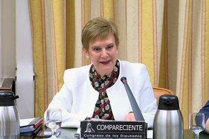 Consuelo Rumí, durante su comparecencia en el Congreso.