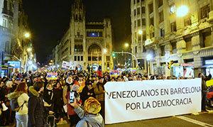 Una de las manifestaciones de venezolanos en España.