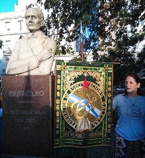 Un momento del acto de homenaje en el 70º aniversario del fallecimiento de Castelao.