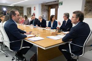 Alberto Núñez Feijóo presidió la reunión del Consello de la Xunta, que se celebró en el Pazo de Sergude, en Boqueixón.
