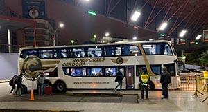 El autobús con españoles que salió desde Córdoba hacia Buenos Aires.