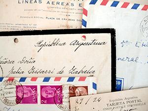Cartas que conforman la exposición.
